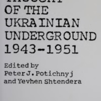 Political Thought of the Ukrainian Underground, 1943–1951