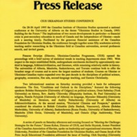 28–30 April 1995—CIUS Ukrainian Studies Conference