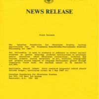 January 1987—Application Information for Stephania Bukachevska-Pastushenko Archival Fellowship