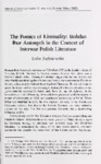 The Poetics of Liminality: Bohdan Ihor Antonych in the Context of Interwar Polish Literature