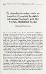 Ex abundantia enim cordis os loquitor: Dymytrij Tuptalo's Ukrainian Sermons and the Kievan Rhetorical Model