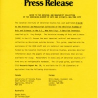 February 1989 — Guide to the Archival and Manuscript Collection of the Ukrainian Academy of Arts and Sciences, New York City
