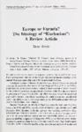 "Europe or Eurasia? The Ideology of ""Kuchmism"""