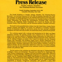 October 1995—Peoples, Nations Identities: The Ukrainian-Russian Encounter
