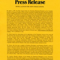 6 April 1997—Book Launch for New Publications