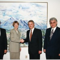 From the left - Dr. Borys Polyachenko, Dr. Martha Piper, His Excellency Volodymyr Furkhalo, Ambassdor of Ukraine, Dr. Zenon Kohut.jpg