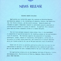 10 October 1978—Research Grants Available