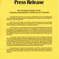 1995—The Ukrainian Famine at the Armenian International Conference on Genocide