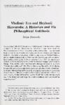 Vladimir Ern and Hryhorii Skovoroda: A Historian and His Philosophical Attitudes