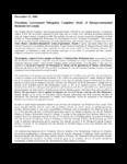 15 December 2001–Ukrainian Government Delegation Completes Study of Intergovernmental Relations in Canada