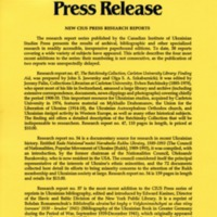 1995—New CIUS Press Research Reports