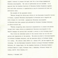 4 December 1977—Contract Signed to Prepare Encyclopedia