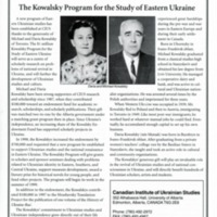 1999—The Kowalsky Program for the Study of Eastern Ukraine
