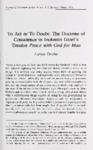To Act or To Doubt: The Doctrine of Conscience in Inokentii Gizel' s Peace with God for Man