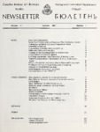 Newsletter Vol 11 Issue 1(Summer 1987)