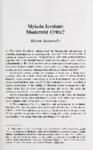 Mykola Ievshan: Modernist Critic?
