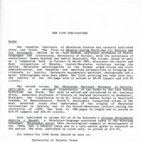1986 — New CIUS Publications