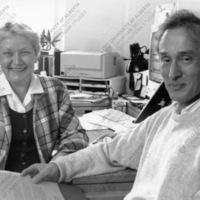 Long-time staff members of CIUS Khrystyna Kohut-Yendyk and Dr. Bohdan Klid
