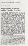 Historiography on the Jews and the Ukrainian Revolution