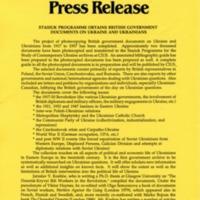 1997—Stasiuk Programme Obtains British Government Documents on Ukraine and Ukrainians