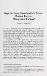 Rape in Shevchenko' s Trizna: Textual Fact or Theoretical Fiction?