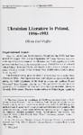 Ukrainian Literature in Poland, 1956–1993