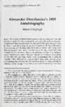 Alexander Dovzhenko's 1939 Autobiography