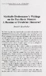 Mykhailo Drahomanov's Writings on the Pan-Slavic Mission: A Russian or Ukrainian Discourse?